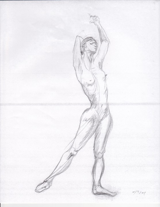 nude woman sketch